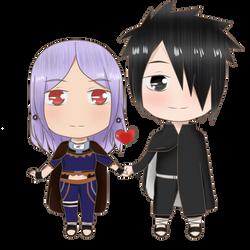 Ych couple ~ SasuKasu by Yukaishironeko