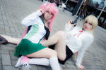 Saya and Shizuka by MaryMagika