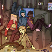 Craig and the gang by DuckPrince