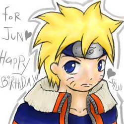 For Jun - Naruto - half oekaki by shuu