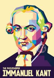 Immanuel Kant in Pop Art Portrait by duniaonme