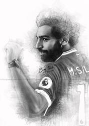 Digital Sketch Mohamed Salah by duniaonme