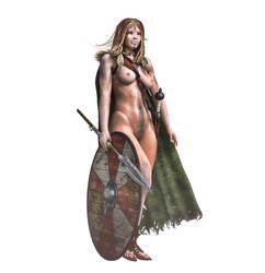 Celtic Fantasy Warrior by ravenferret