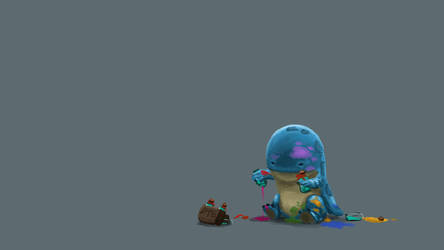 Guild Wars 2 Fanart - Baby Quaggan wants rare dye! by Jeffufu