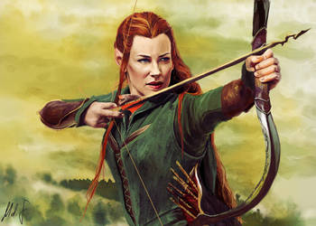 Tauriel by MeliFalco