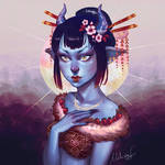 Oni girl by MeliFalco