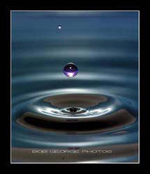 Droplet in Blue by DaFotoGuy