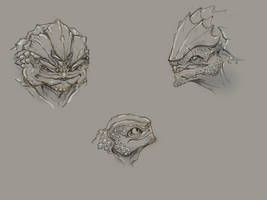 Krogan sketch dump by Megume