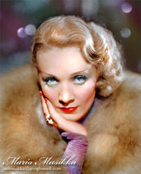 Marlene Dietrich ~~ 1932 ~~ colourised by Maria-Musikka