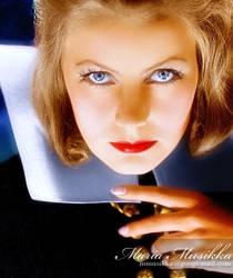 Greta Garbo ~~ 1933 ~~ Christina ~~ colourised by Maria-Musikka