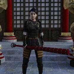 Mizuki at Temple by Loki-Eris