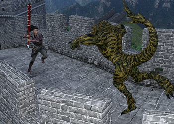 Battle on the Wall by Loki-Eris