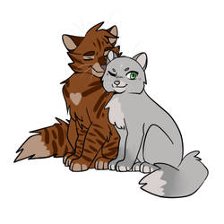 Dovewing and Tigerheart by kariing200