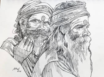 Indian Sages by rkamalart