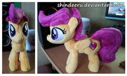 Filly Scootaloo Plushie with her cutiemark by shindeeru