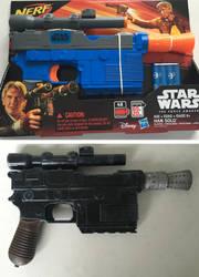 Han Solo Nerf Blaster Repaint by billythebrain