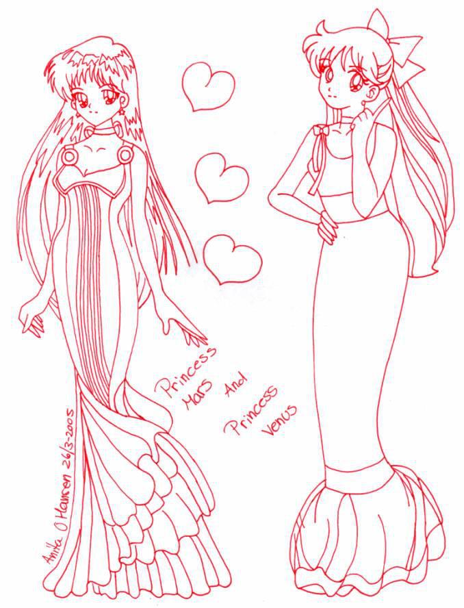 Mars Venus Princess Usagisailormoon20 Deviantart And On By Tgp686anq