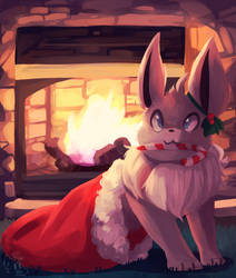 Merry Christmas Eevee by honrupi