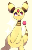 Ampharos Sketch by honrupi