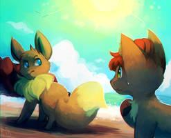 A Blossoming Friendship by honrupi