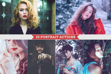 25 Portrait Actions by Bato-Gjokaj