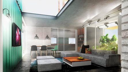 Living - interior render by Amedeah