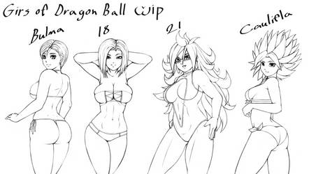 Girls of Dragon Ball WIP by Rocky-Ace