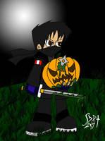 Murdered pumpkin by DarkPrince2007