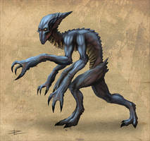 Alien creature by Tyrus88
