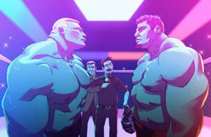 Brock vs. Mir by Tyrus88