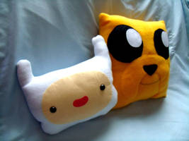 Finn and Jake pillows by CynicalSniper