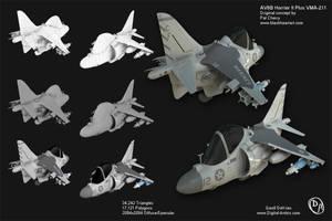 Harrier Model Sheet by DeVriesAnimation