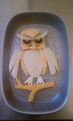 Wisdom the Cheese Owl by RosaleenDhu