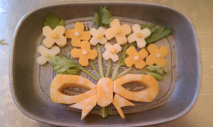 Cheese Bouquet by RosaleenDhu