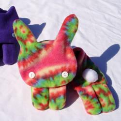 Tye Dye Bunny Scarf by RosaleenDhu