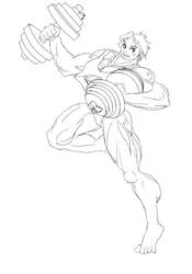 dumbbell gymnastics_draft by shujisi