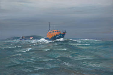 Mumbles Lifeboat. by Pictonart