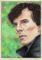 Sherlock Portrait - 'Pondering' by Trilly21