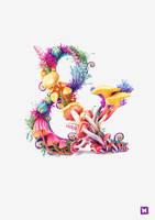 Mushrooms ampersand by Melaamory
