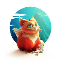 Little grifon by Melaamory