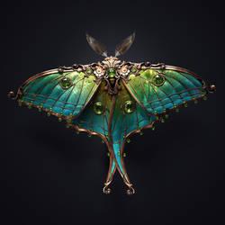 Juwel moth by Melaamory
