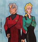 Renegades, Chakotay and Seven by LizzyChrome