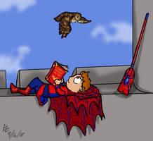 Friendly Hogwarts Spiderman by LizzyChrome
