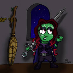 I'll Do You One Better--What HOUSE is Gamora?! by LizzyChrome