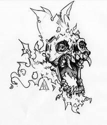 Skull Sketch006 by Mortainius88