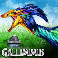 Gallimimus by wingzerox86