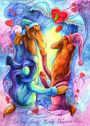Llamly valentine by TrollGirl