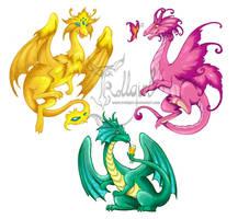Dragons by TrollGirl