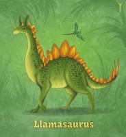 Daily Llama Project - Llamasaurus by TrollGirl
