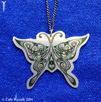 Luna Moth Pendant by TrollGirl